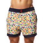 Hey Franky Circuit Beach Shorts Triangles HF015S Multi Mens Shorts