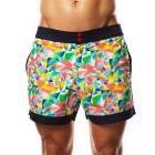 Hey Franky Circuit Beach Shorts Geometric HF017S Multi Mens Shorts